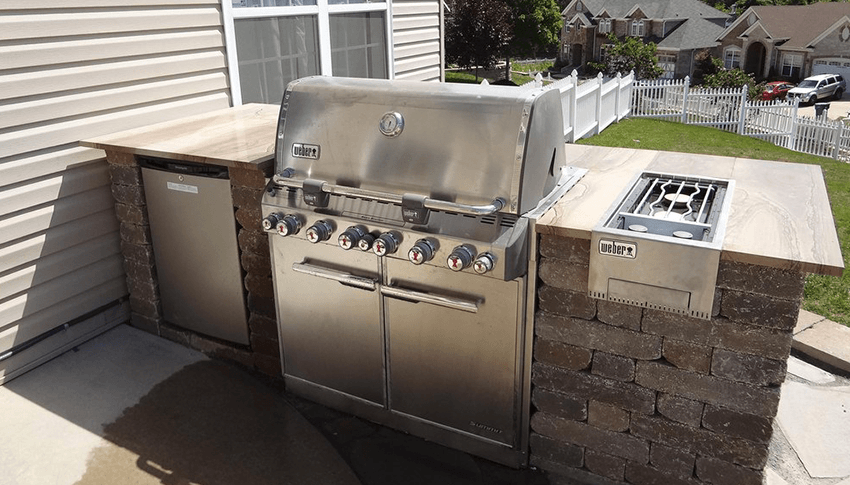 outdoor kitchen appliances packages pre fab outdoor kitchens rescue landscaping livings finished outdoor kitchens